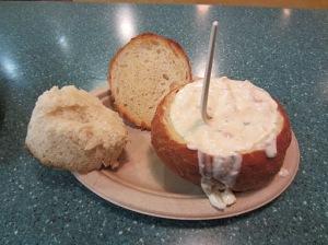 Chowder bread-bowl