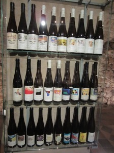History of labels for the top Georg Breuer wine