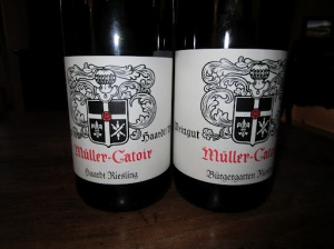 Two of the Mueller-Catoir wines