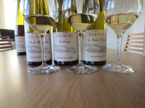 Rene Mure wines in bottle and glass