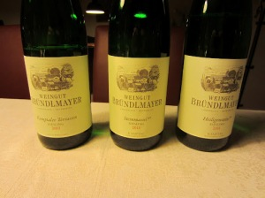 Some of the Brundlmayer wines