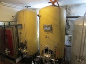 Fibreglass tanks at Fattoria Zerbina no longer used