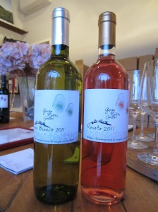 Two of the wines made by Giorgio Meletti