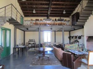 The tasting room at the Planeta Vittoria estate