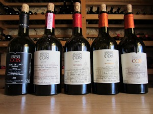 The range of wines produced by Cos