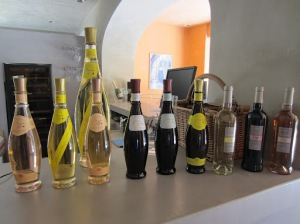 Some of the Domaine Ott wines