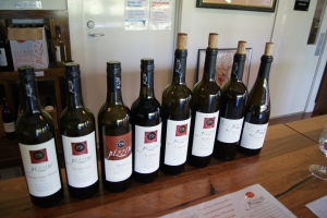 A variety of red wines produced by Pizzini