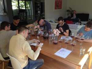 The Bentleigh Tasting Group deep in analysis