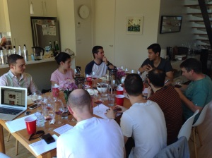 Bentleigh Tasting Group discussing nebbiolo