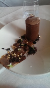 Chocolate dessert at Sosta Cucina