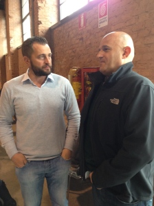 Paolo Vodopivec with importer in Australia Gianmarco Balestrini