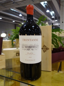 A giant bottle of Falesco Trentanni