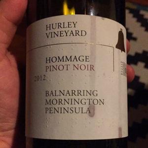Hurley Vineyard Hommage Pinot Noir 2012