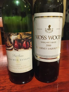 Leeuwin Estate Art Series Cabernet Sauvignon 2000 and Moss Wood Cabernet Sauvignon 2000