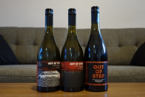 Out of Step 2016 Sauvignon Blanc wines and Nebbiolo 2015