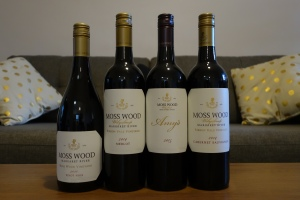 Moss Wood Pinot Noir 2011, Merlot & Cabernet Sauvignon 2014 and Amy's 2015